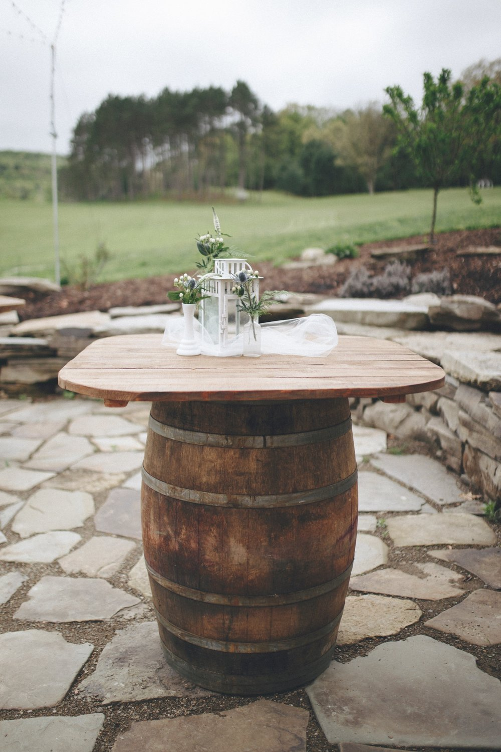 wine barrel high top tables