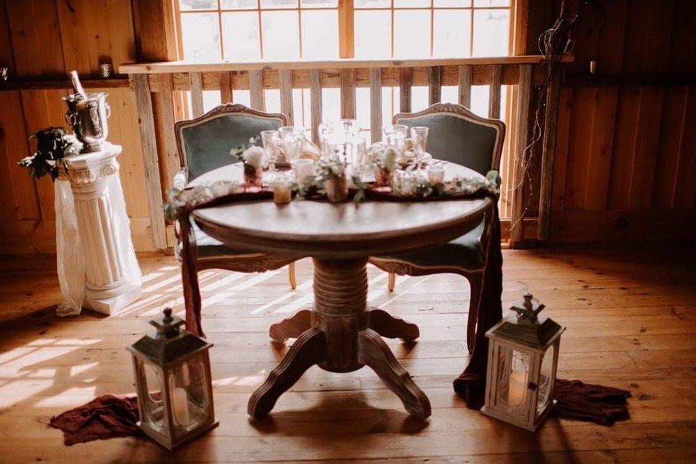 Arabella - white washed round table