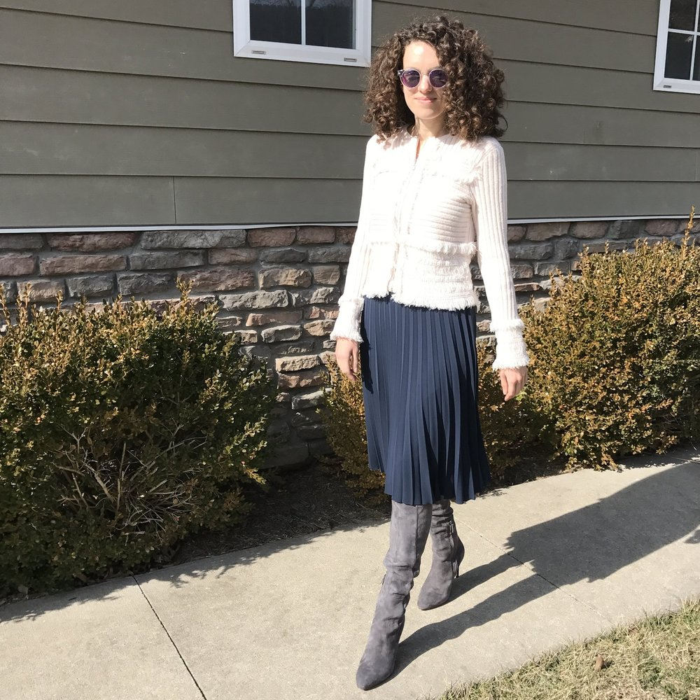 everlane pleated skirt review