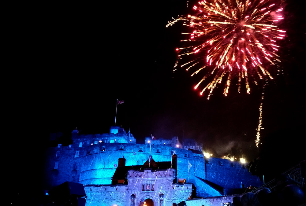 Edinburgh castle, new year