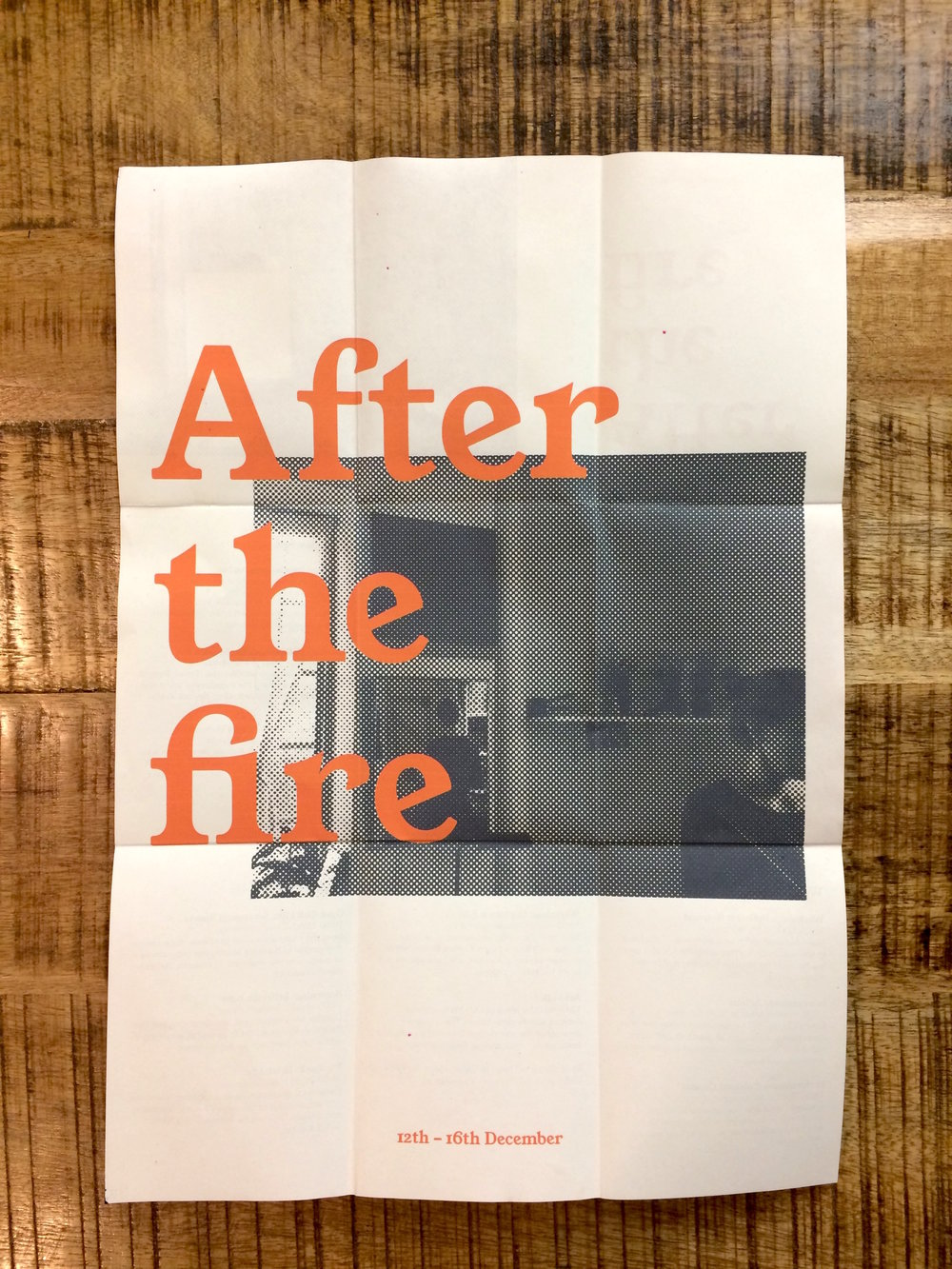 Mock up programme:  After the fire  (2016)