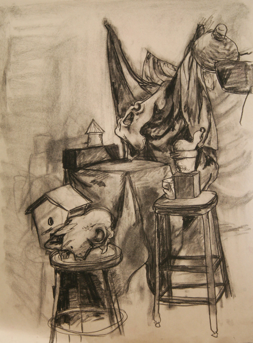 "Drawing II  24x36""  Charcoal"