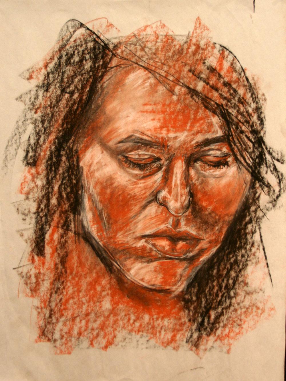 """Drawing II  24x36""""  Conté"""
