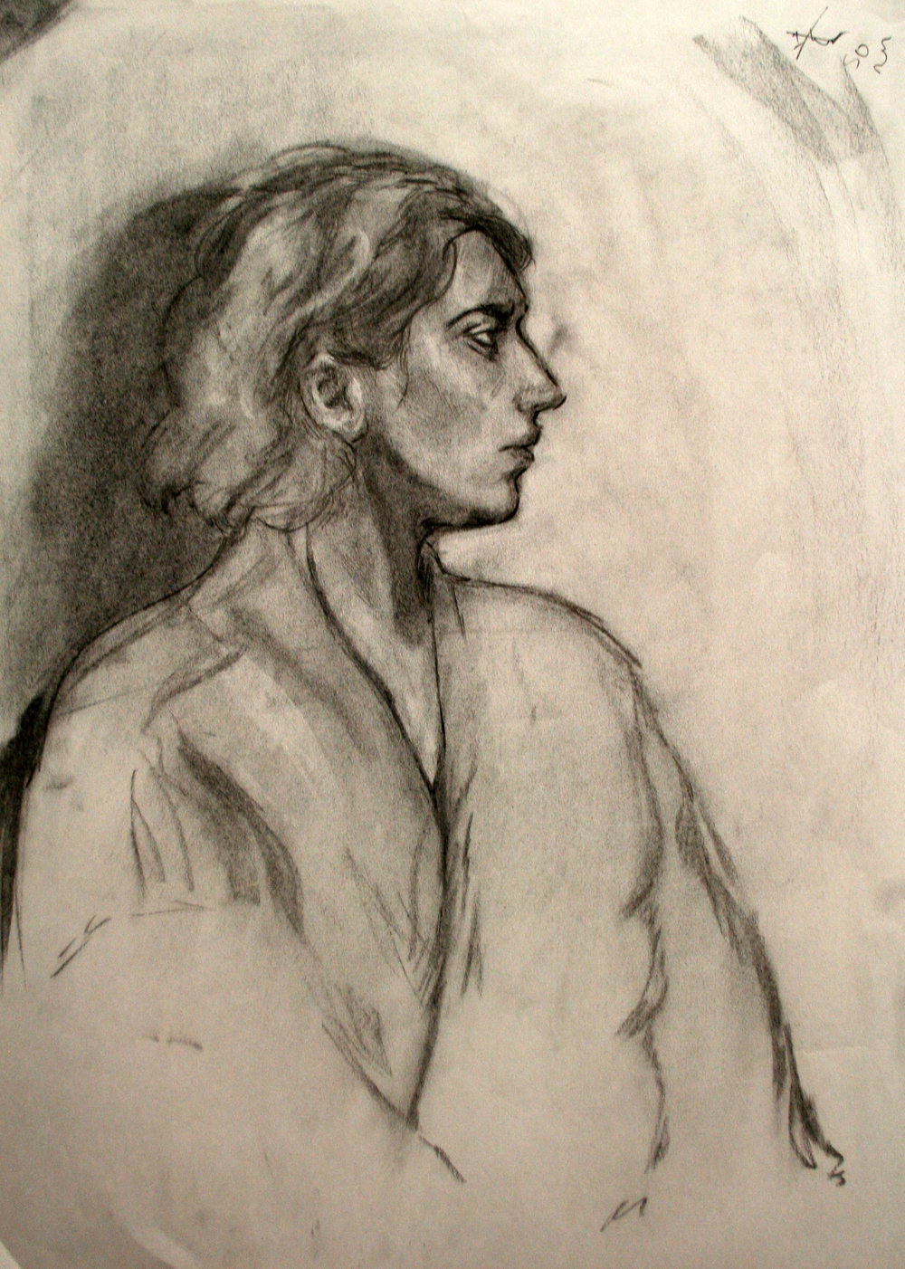 "Intro to Figure Drawing  18x24""  Charcoal"