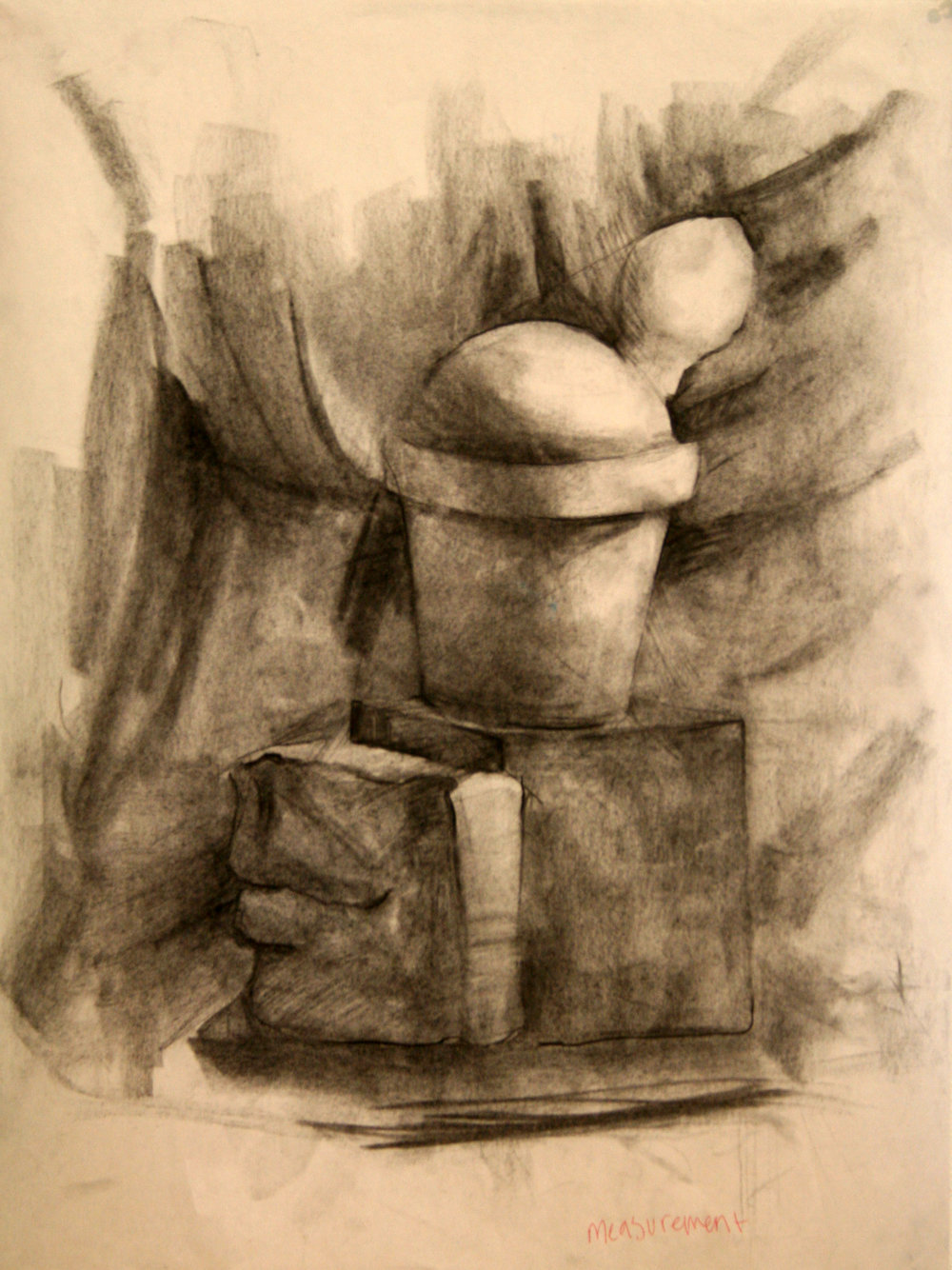 "Drawing II  18x24""  Charcoal"