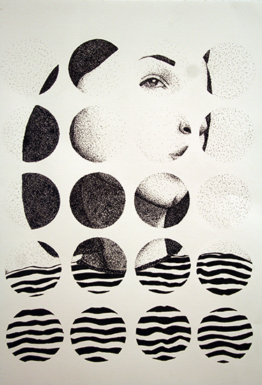 "Drawing II  22x30""  Ink"