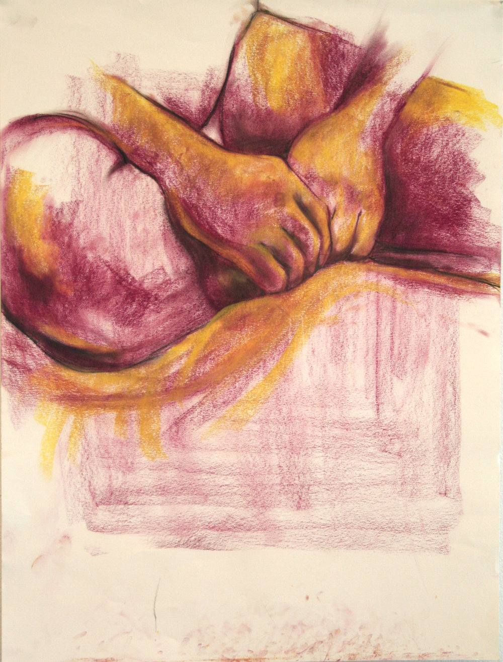 "Intro to Figure Drawing  24x36""  Pastel"
