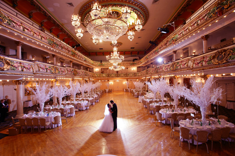 WEDDINGS - At the Grand Prospect Hall, we believe that your wedding ceremony and reception should be a fairy-tale vision come true. You are the princess and prince at this very special event. Your family and friends will be treated like royalty. The hall's staff will work with you personally to custom-design the perfect dream occasion for the memories of a lifetime.