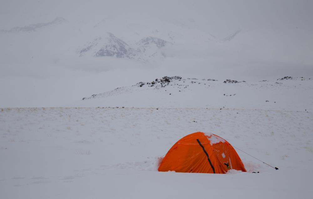 La tente de Matthieu pendant un entrainement - Matthieu Tordeur