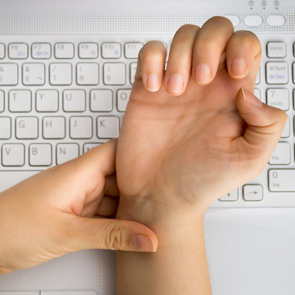 Typing on a keyboard for over 20 hours per week may cause carpal tunnel