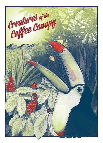 Creatures of the Coffee Canopy Digital print