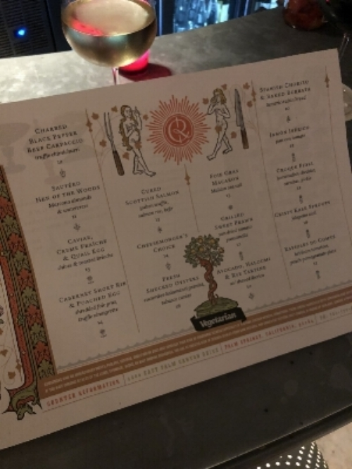 Counter Reformation Menu