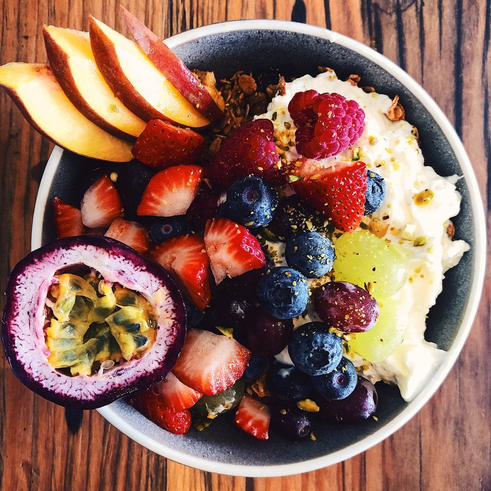 The yogurt and granola bowl from Porch & Parlour in Sydney.