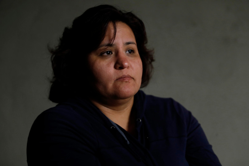 Mountain View, CA - DECEMBER 3: Resident Adriana Tapia Medrano talks with the Mercury News about her rent controlled apartment along Rock St. in Mountain View, Calif., on Monday, Dec. 3, 2018. They meet every week. Mountain View city officials are considering a developer's proposal to raze 20 rent-controlled, affordable apartments and replace them with 15 new, luxury town houses. (Nhat V. Meyer/Bay Area News Group)