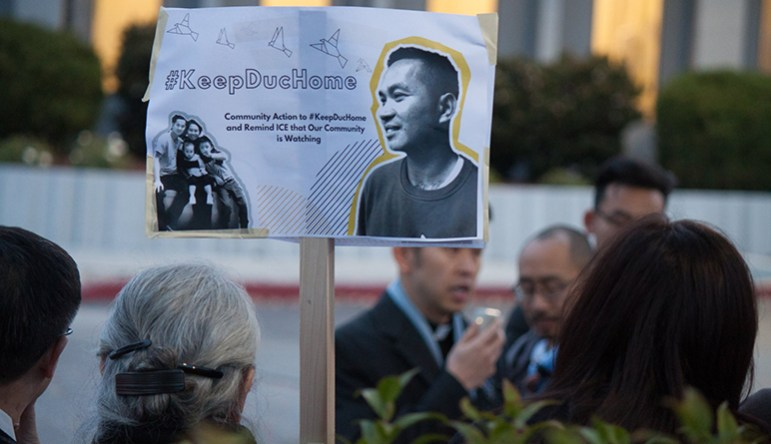 If the White House gets its way, more people like Duc Nguyen would be at risk for deportation. (Photo: VietUnity South Bay)