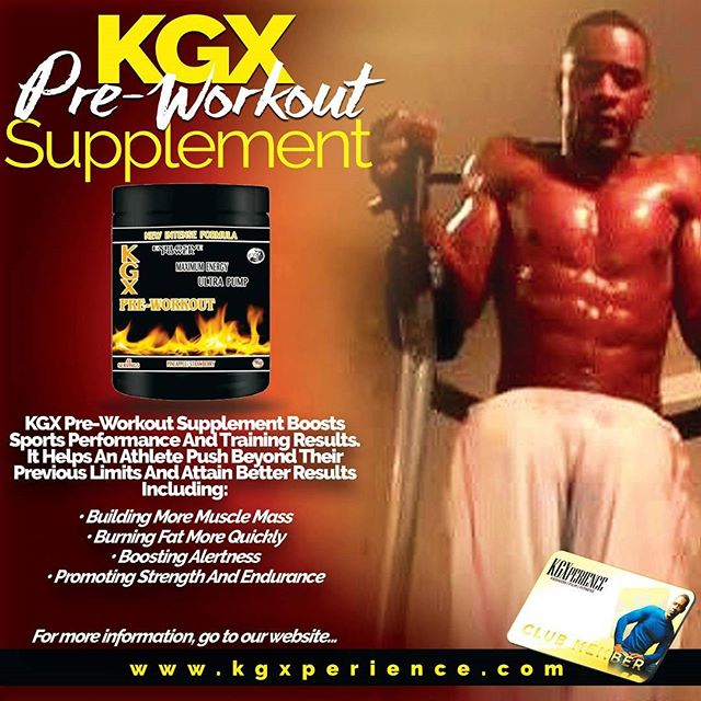 GET IT NOW AT WWW.KGXPERIENCE.COM/SUPPLEMENTS.  KGX Pre-Workout Supplement Boosts Sports Performance And Training Results. It Helps An Athlete Push Beyond Their Previous Limits And Attain Better Results Including: • Building More Muscle Mass • Burning Fat More Quickly • Boosting Alertness • Promoting Strength And Endurance  #workout #fitness #health #supplement #KGX #exercise #global #training #muscle #weightloss #buildmuscle #sttength #endurance #sports #performance #results #athlete #training