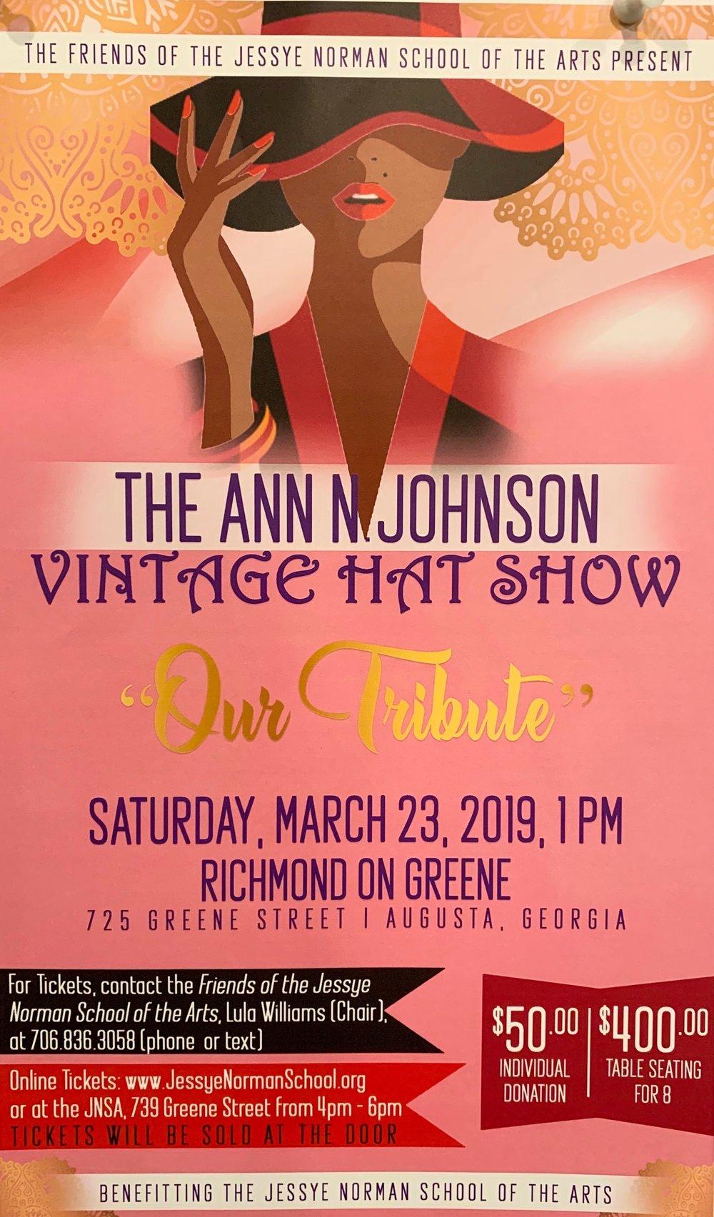 Ann Johnson Hat Show