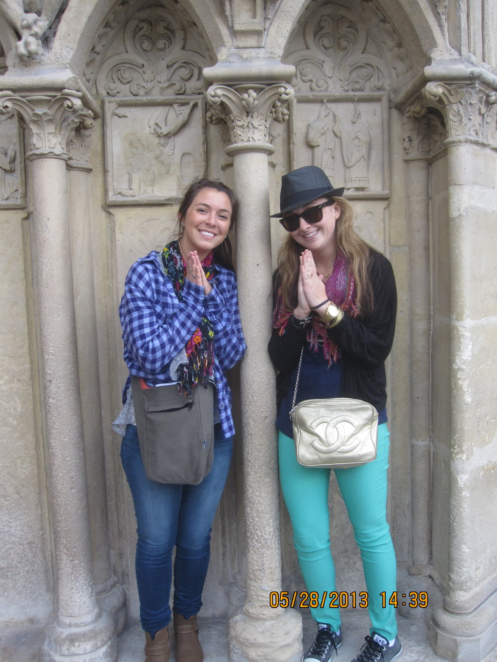 The best friend that changed my life and me mocking statues at Notre Dame circa 2013