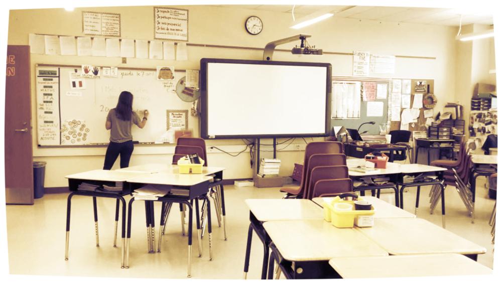 me in my classroom as a 5th grade teacher in 2016