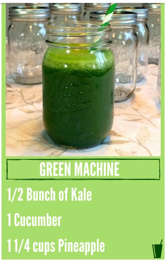 *I used about 2 handfuls of spinach instead of kale! I also made this with an apple instead of pineapple once and it was delish!