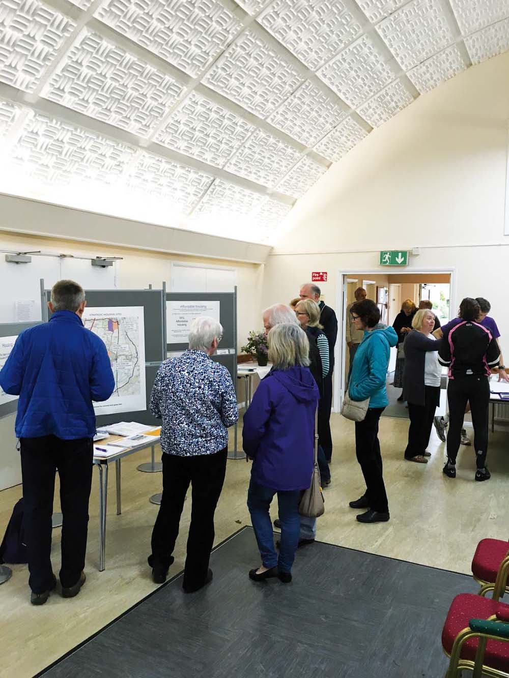 Photograph from the Neighbourhood Plan Exhibition