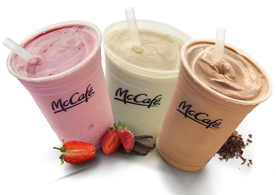 Fresa, vainilla y chocolate serán los sabores de las nuevas bebidas.