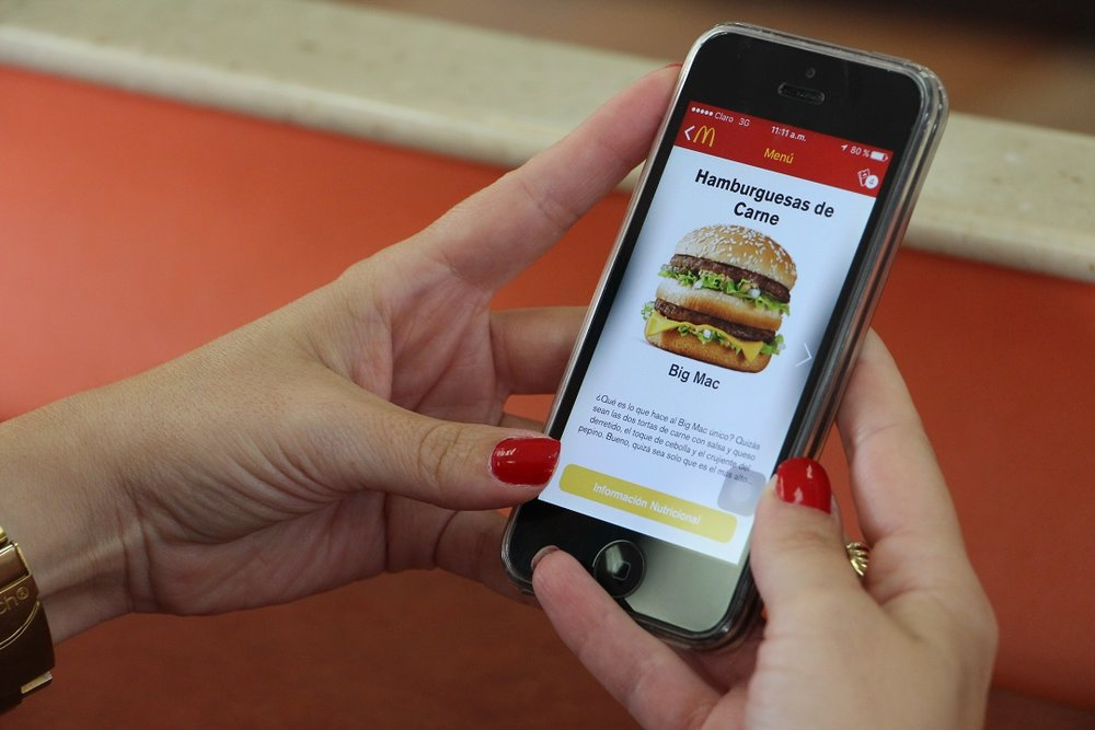 Información de productos del menú de McDonald's
