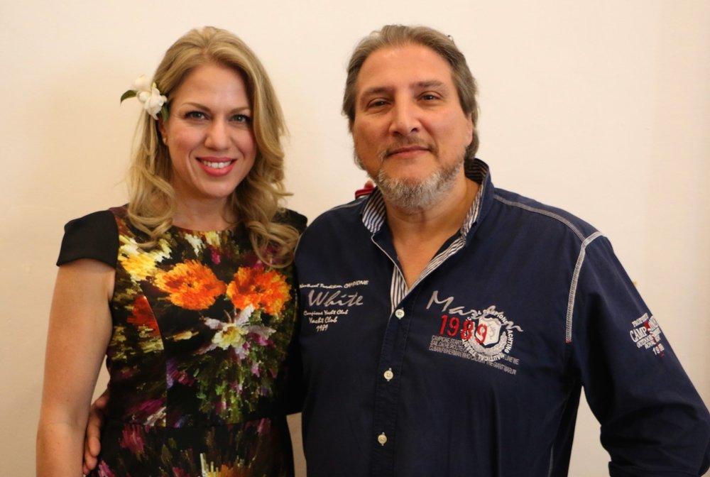 Elizabeth Caballero y Massimiliano Pisapia