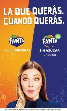 Estará disponible a partir de noviembre    Fanta con jugo de frutas y sin azúcar añadida continuará en el mercado