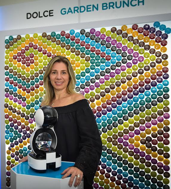 Marina Ripper, gerente de país de Nestlé durante el lanzamiento de Lumio de Nescafé Dolce Gusto Costa Rica.
