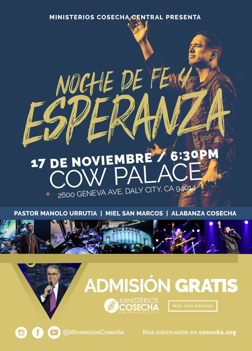 Ministerios Cosecha Cow Palace