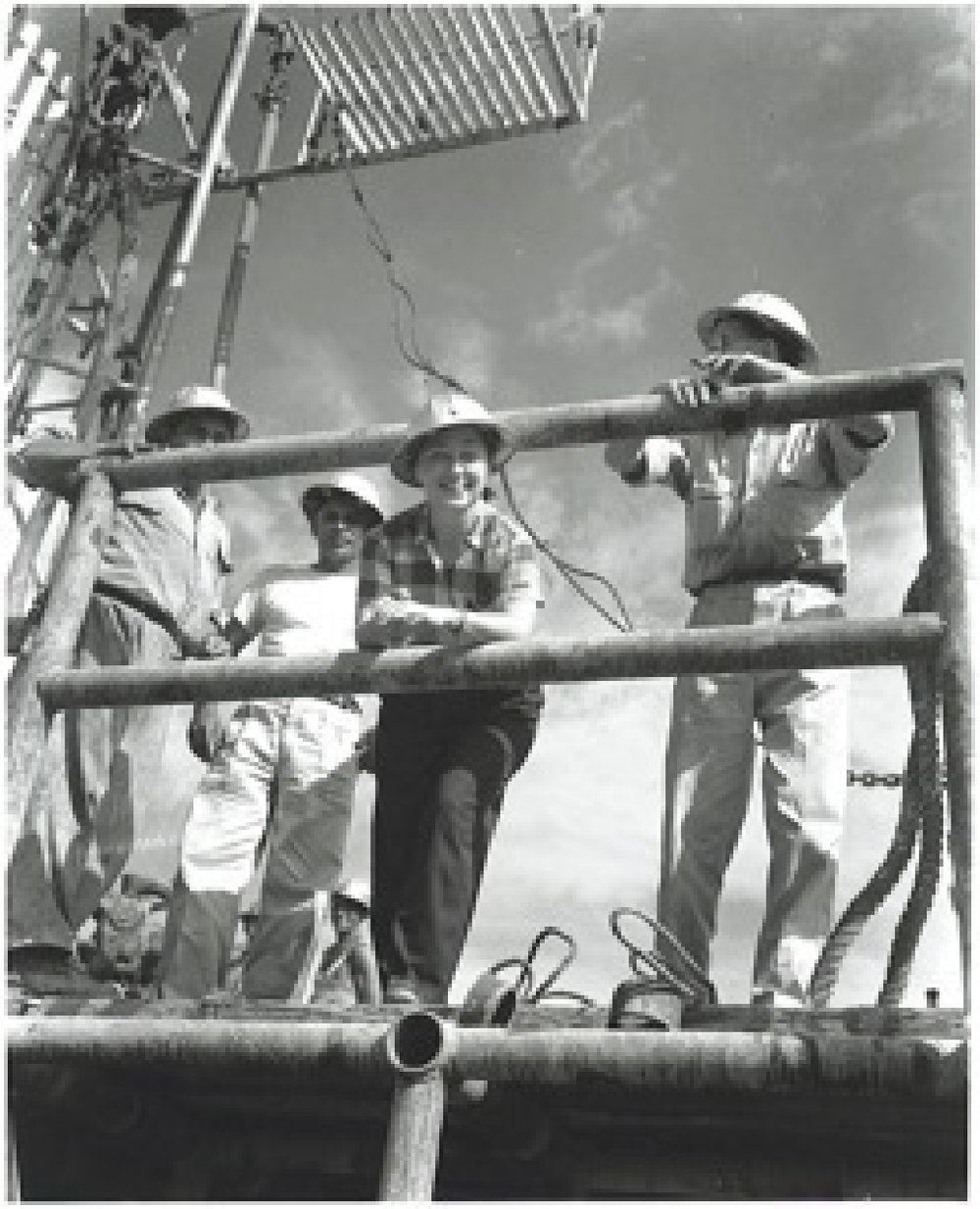 On Oil Rig, Maracaibo, Venezuela    1947