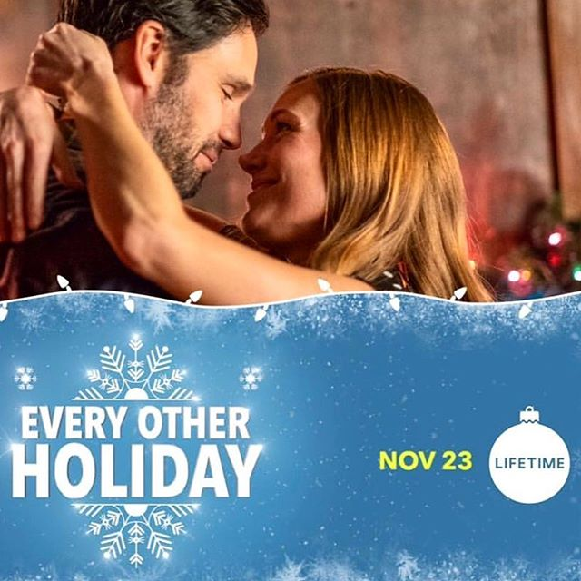 "as promised, here is your week-of reminder 🔔🎄🎄🎄🎄it's the perfect time to set your DVR's.!! ""Every Other Holiday"" premieres this friday on @lifetimetv at 10/9 c. This Christmas movie is sweet, funny, relatable and full of heart. perfect for the whole family without being dumbed down. hope you can check it out. happy Thanksgiving week! a lot to be thankful for this year! ❤️ jingle jingle! xoxo sf"
