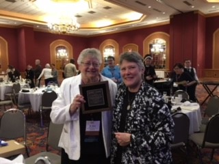 "At the beginning of this month, Sister Mary was the recipient of an award given by the National Religious Vocation Conference in the United States at their biennial meeting held, this year, in Buffalo New York. Mary, who is President of the National Association of Vocation and Formation Directors of Canada, was honoured for ""her outstanding leadership, service and dedication to vocation ministry in the Catholic Church."" Congratulations, Sister Mary"