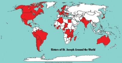 United in prayer, the Global Joseph Family, 11,000 sisters in 52 countries, listening to the heart of the world.