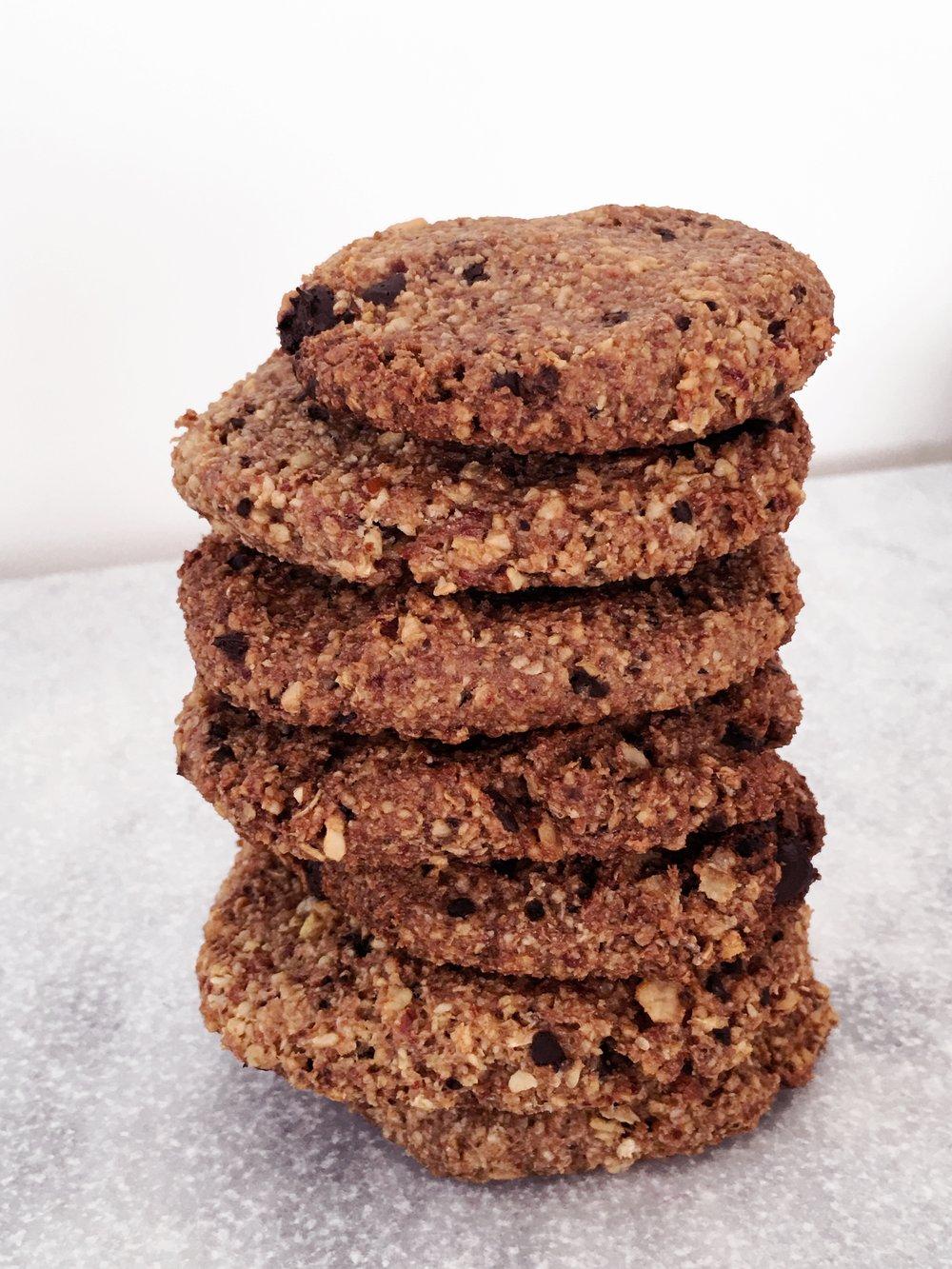 vegan protein oatmeal cookies