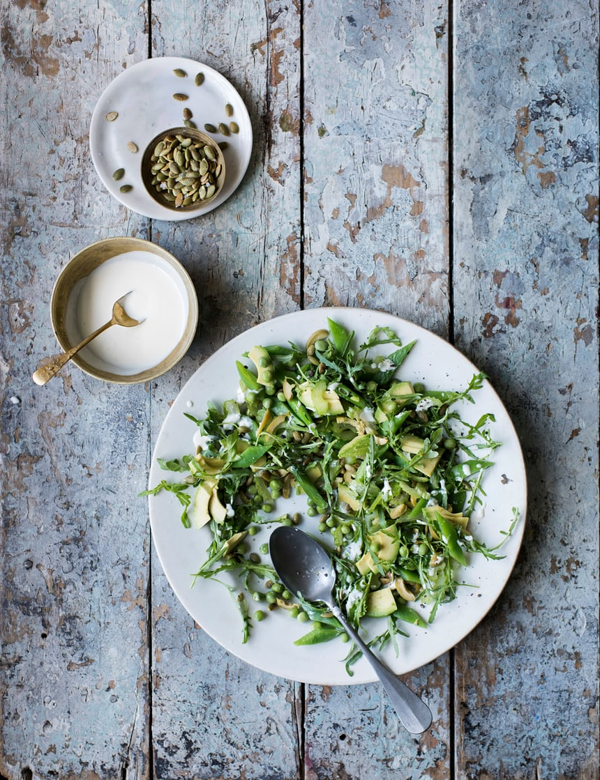 Green Lunch Salad with White Miso Dressing - The Guardian