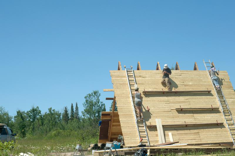 we rebuilt the A-frame on our site in the UP