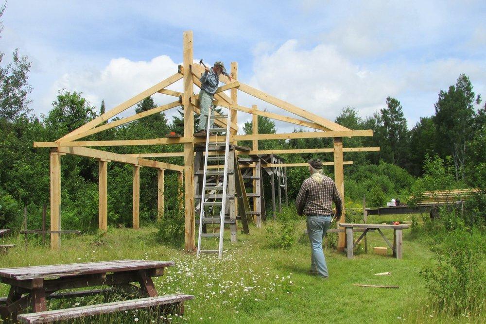 using lumber Mel milled himself,