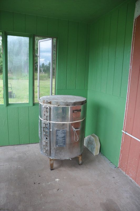 We'll be converting this electric kiln to gas,