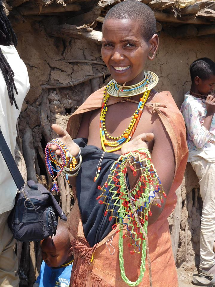 Datoga women make beaded jewlery for sale