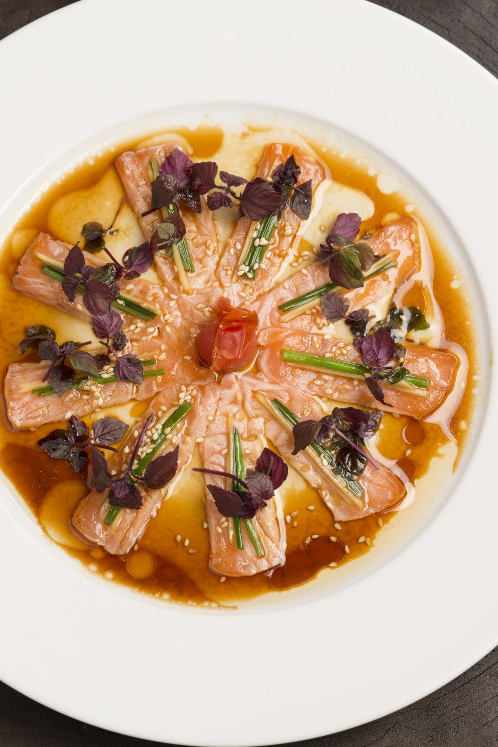 Matsuhisa Paris - Salmon new style sashimi (2) - ©P.O. DeschampsVU.jpg