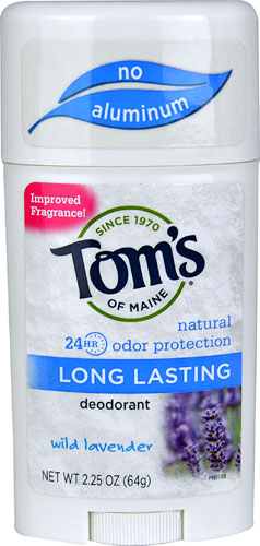 Tom's Long Lasting Stick Deodorant- Wild Lavender - This deodorant is a joke. Tom's should stick to toothpaste. This deodorant is fine if you plan on lying in bed all day. Anything more strenuous than that and you risk being a funky mess. AVOID. Price $4.29