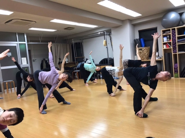 Master class at Studio Natural Flow in Tokyo, Japan