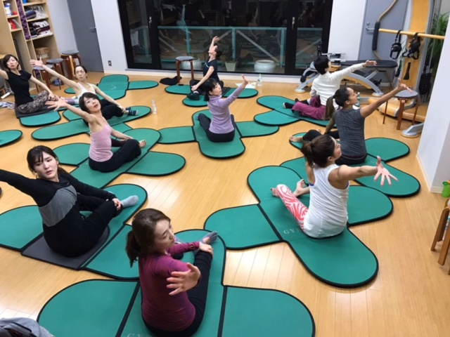 Gyrokinesis class at Studio Natural Flow in Tokyo, Japan