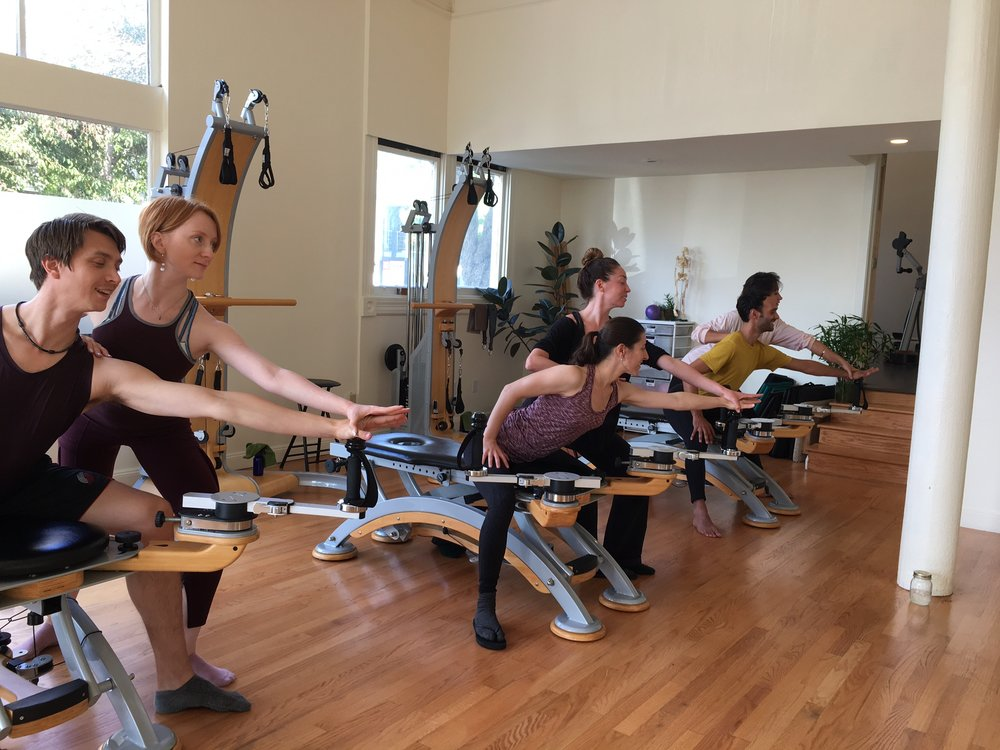 Gyrotonic class at Seed Center in San Francisco, CA