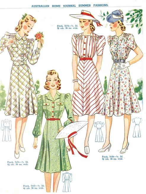 1940s: shapes, patterns, and pockets