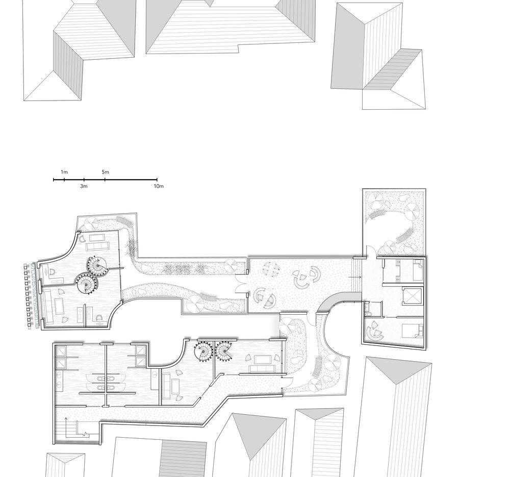 Step 1 Live-Work Garden Transition on the Third Floor