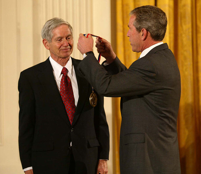 Dave Keeling and George W Bush. Source: Wikipedia.