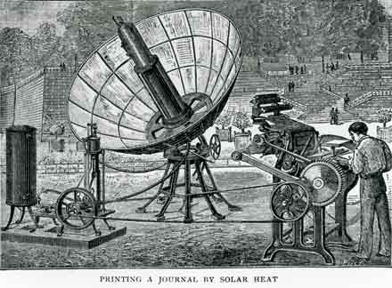 Solar powered printing, 1882.